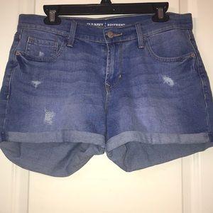 Old navy boyfriend blue jean shorts